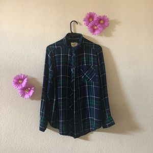 Arizona Blue and Green Flannel
